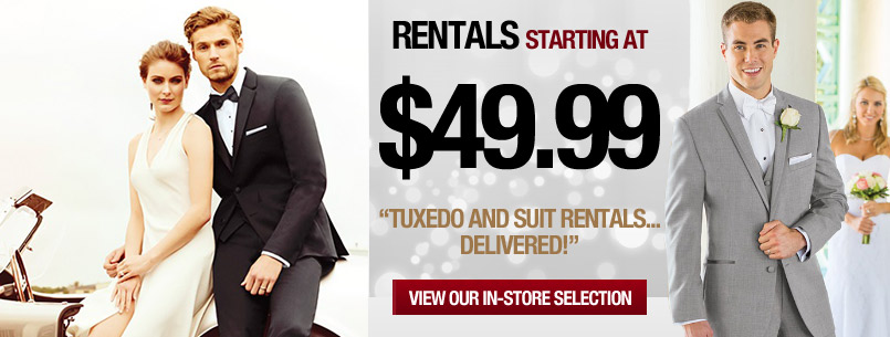 Tuxedo Suit Rental Wedding Prom